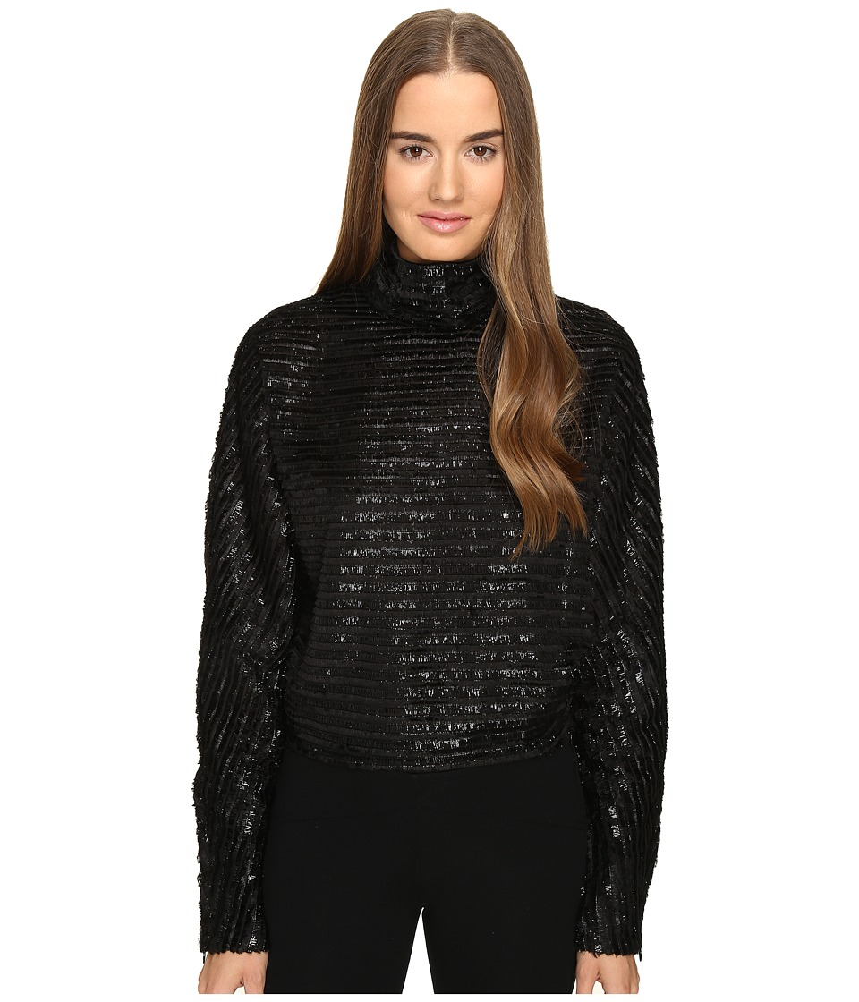 McQ - Turtleneck Top (Black) Women's Clothing