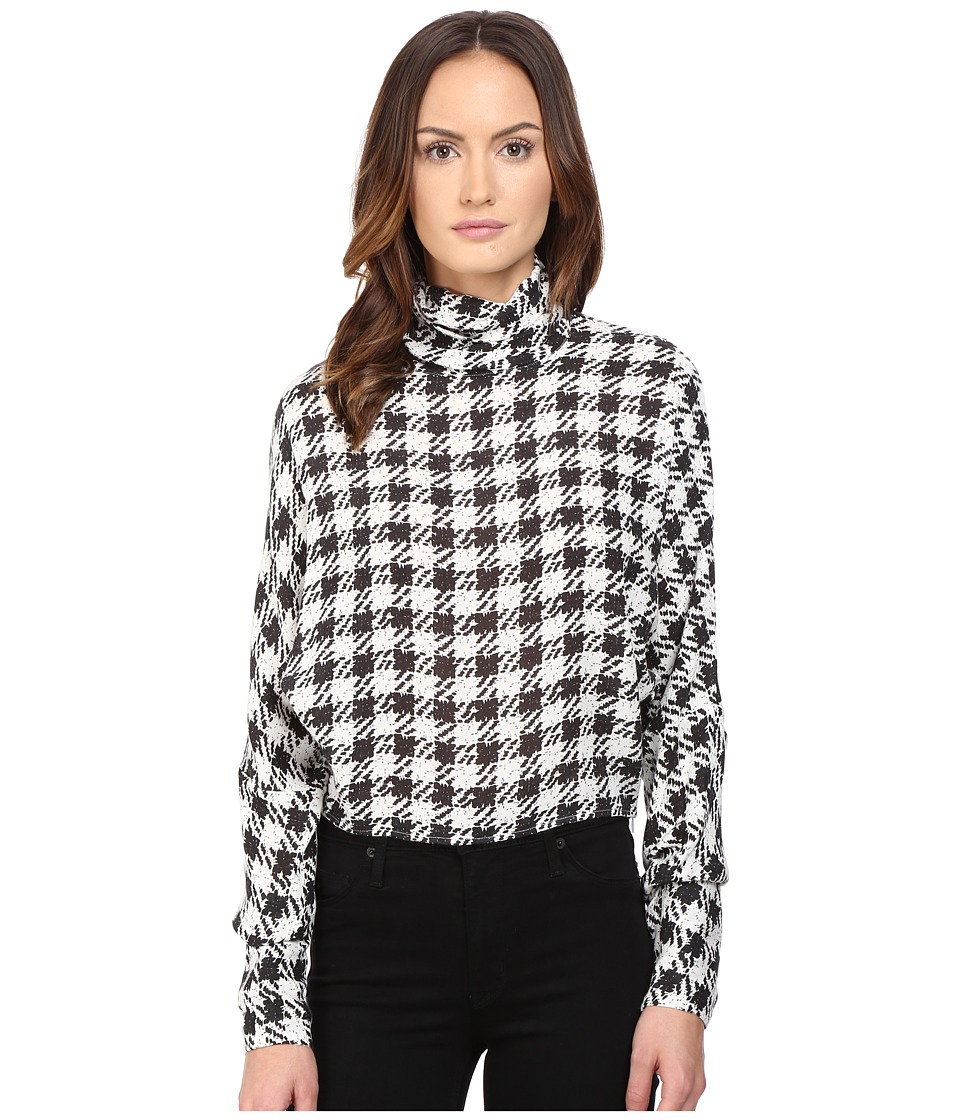 McQ - Turtleneck Top (Black/White) Women's Clothing