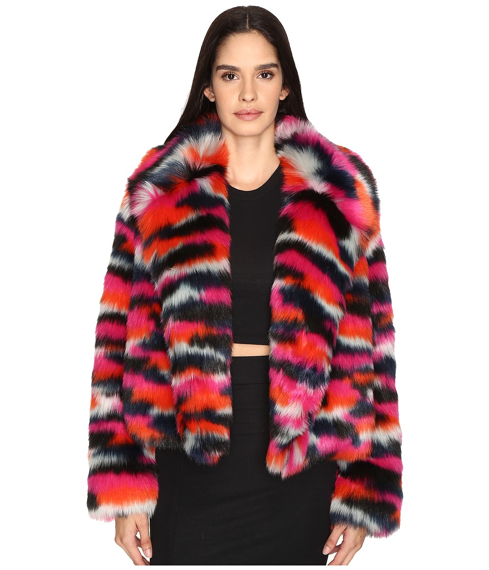McQ - Cropped Fur Jacket (Multi) Women's Coat
