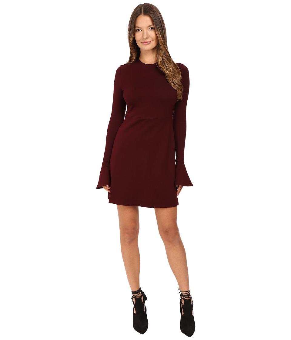 McQ Volant Sleeve Dress (Port) Women