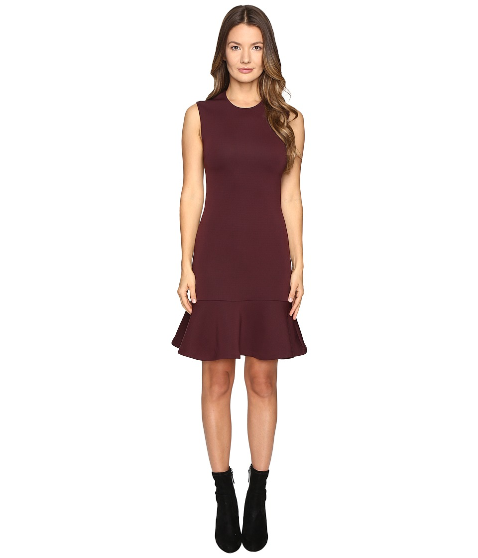 McQ - Peplum Mini Dress (Port) Women's Dress
