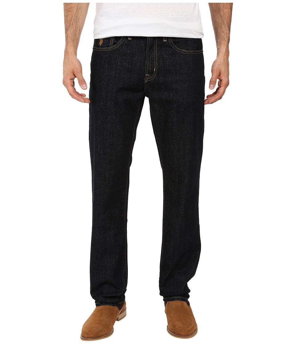 U.S. POLO ASSN. - Straight Leg Five-Pocket Denim Jeans in Blue (Blue) Men's Jeans