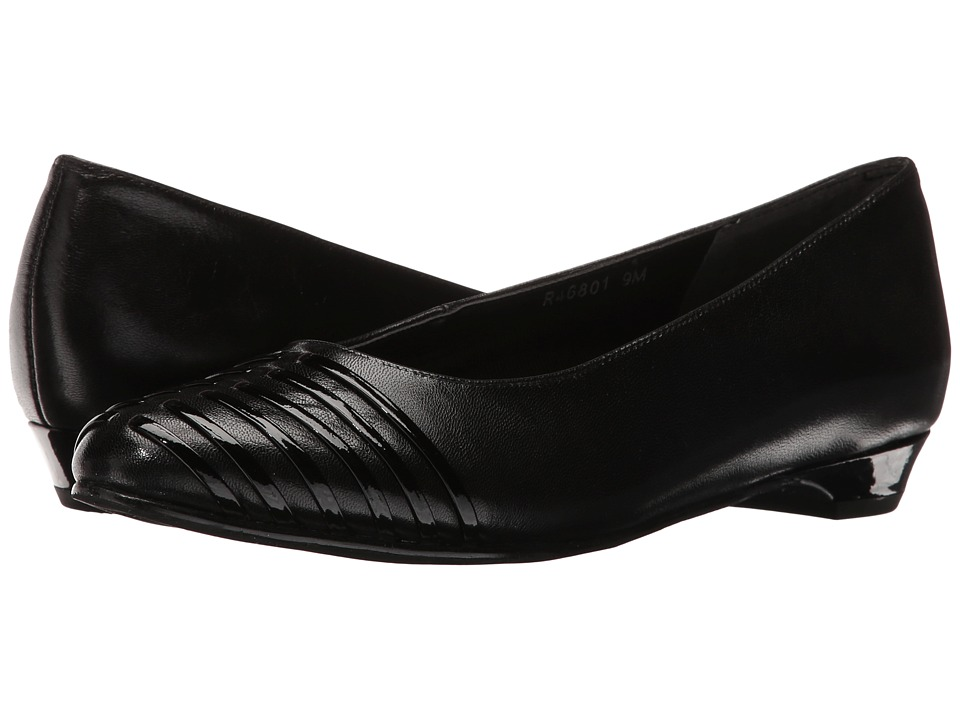 Rose Petals - Bev (Black) Women's Dress Flat Shoes