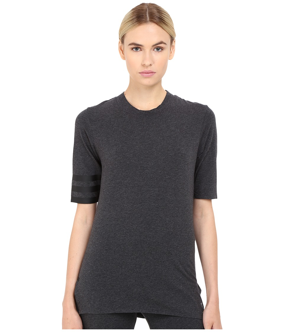 adidas Y-3 by Yohji Yamamoto - Jersey Short Sleeve Tee (Charcoal Melange) Women's T Shirt