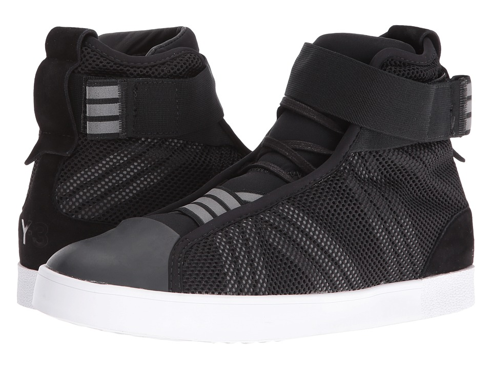 adidas Y-3 by Yohji Yamamoto - Loop Court Hi (Core Black/Core Black/White) Women's Shoes