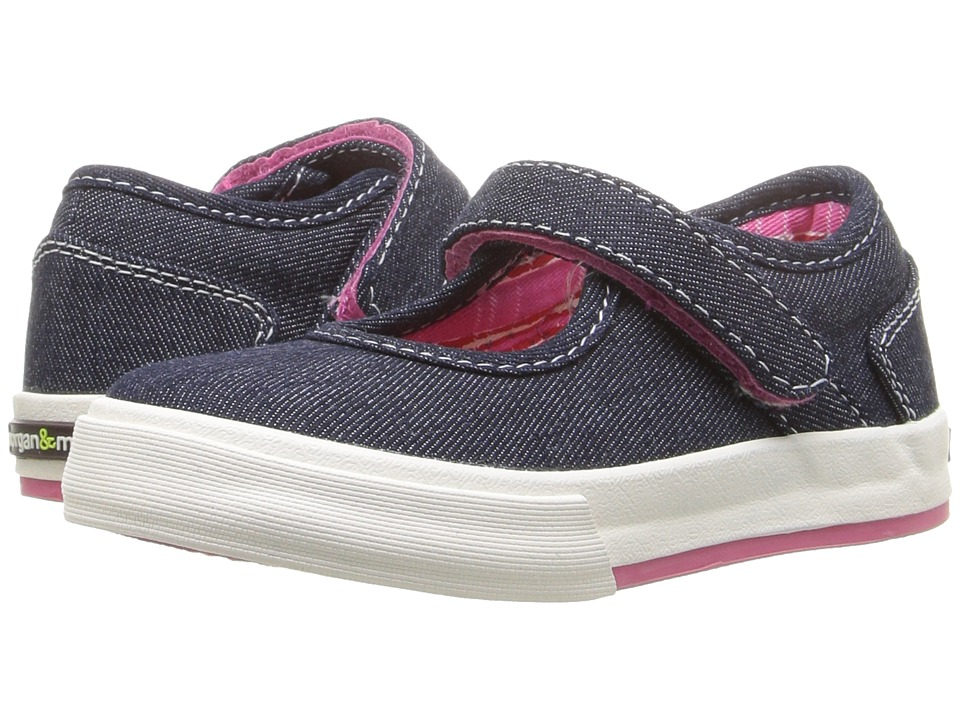 Morgan&Milo Kids - Maddie Mary Jane II (Toddler/Little Kid) (Denim) Girls Shoes