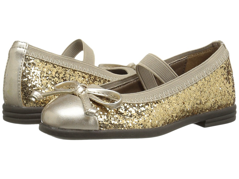 Morgan&Milo Kids - Jan Bow Mary Jane (Toddler/Little Kid) (Gold) Girls Shoes