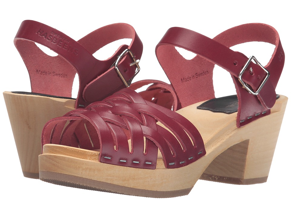Swedish Hasbeens - Braided High (Wine Red) Women's Clog/Mule Shoes