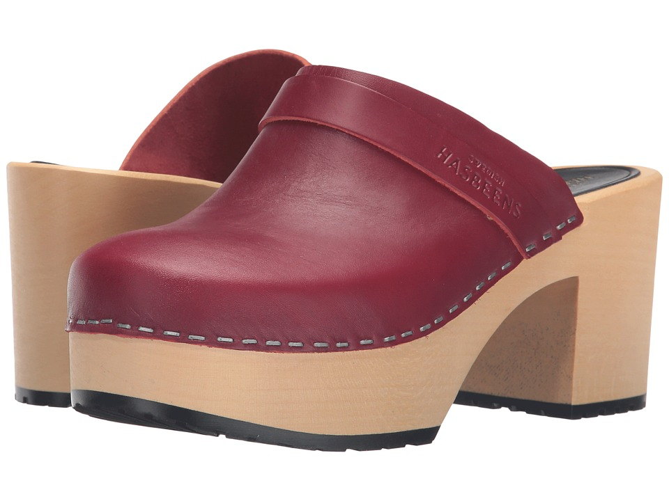 Swedish Hasbeens - Louise (Wine Red) Women's Clog Shoes