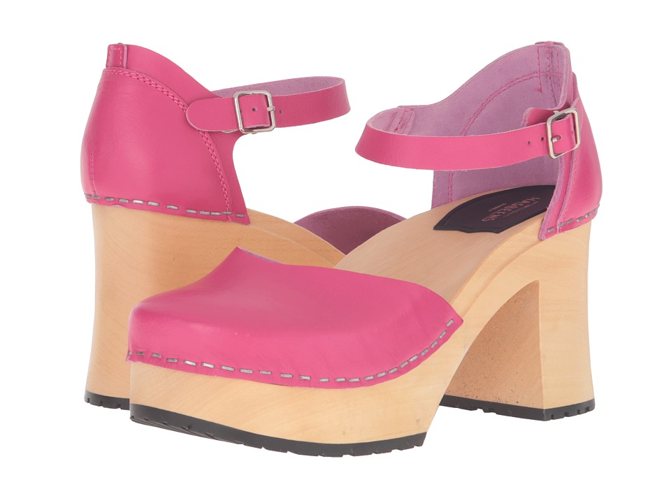 Swedish Hasbeens - Inga (Strong Pink) High Heels