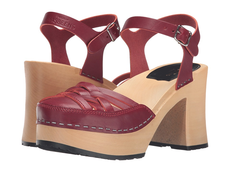 Swedish Hasbeens - Elephant Sandal (Wine Red) High Heels
