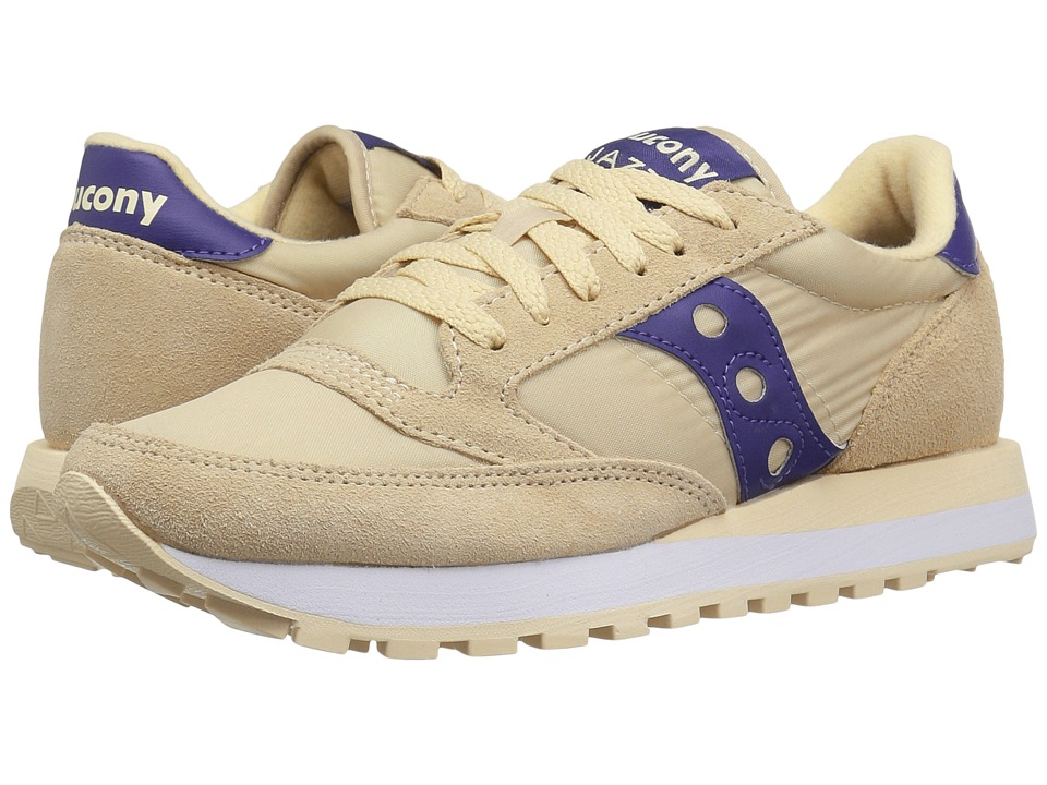 Saucony Originals - Jazz Original (Cream/Purple) Women's Classic Shoes