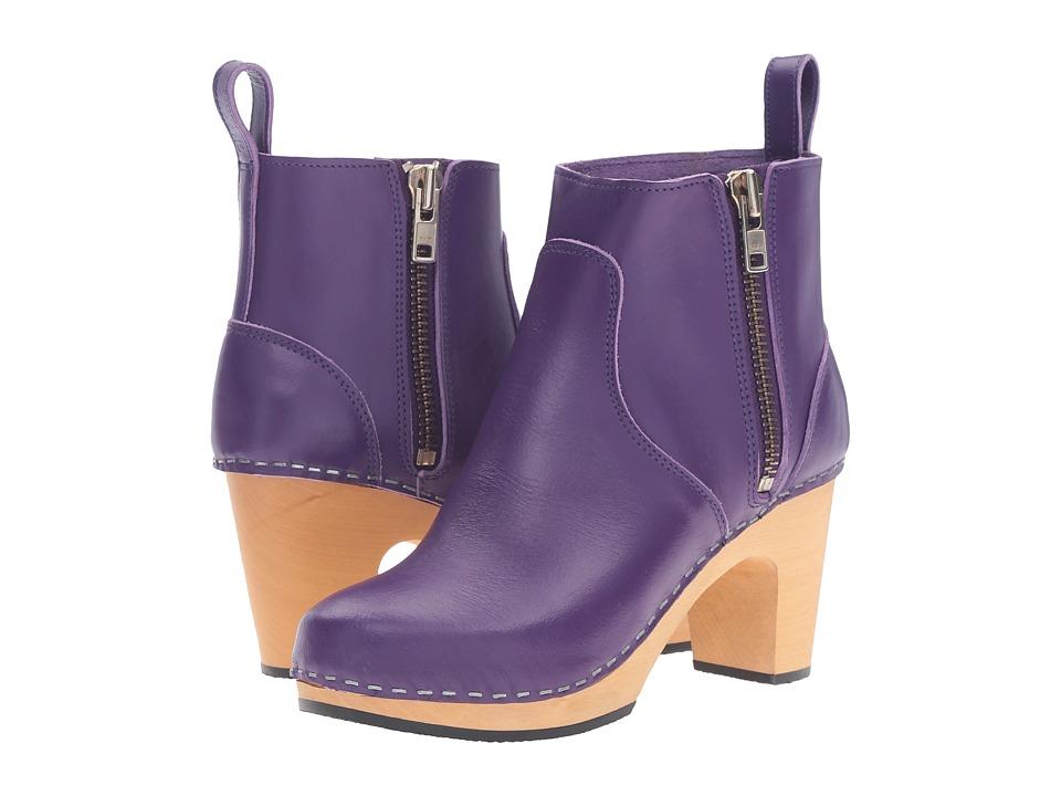 Swedish Hasbeens - Zip It Super High (Violet) Women's Zip Boots