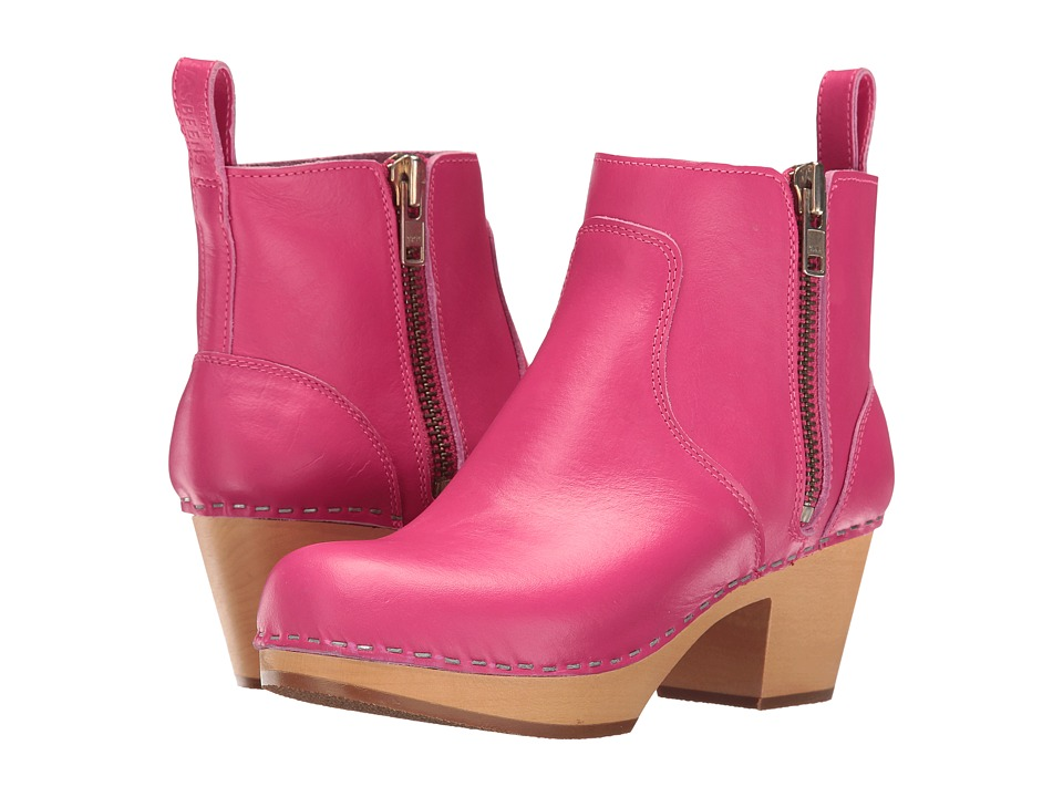 Swedish Hasbeens - Zip It Emy (Strong Pink) Women's Zip Boots