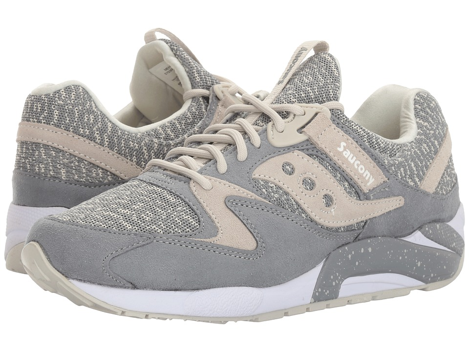 Saucony Originals - Grid 9000 Knit (Grey) Men's Classic Shoes