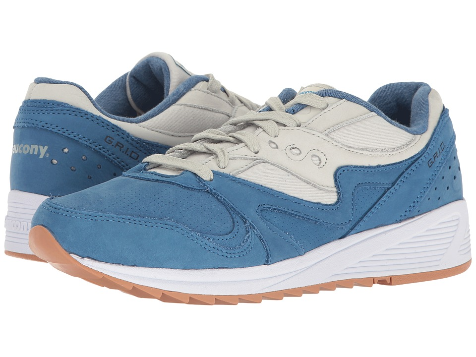 Saucony Originals - Grid 8000 (Blue/Light Grey) Men's Classic Shoes