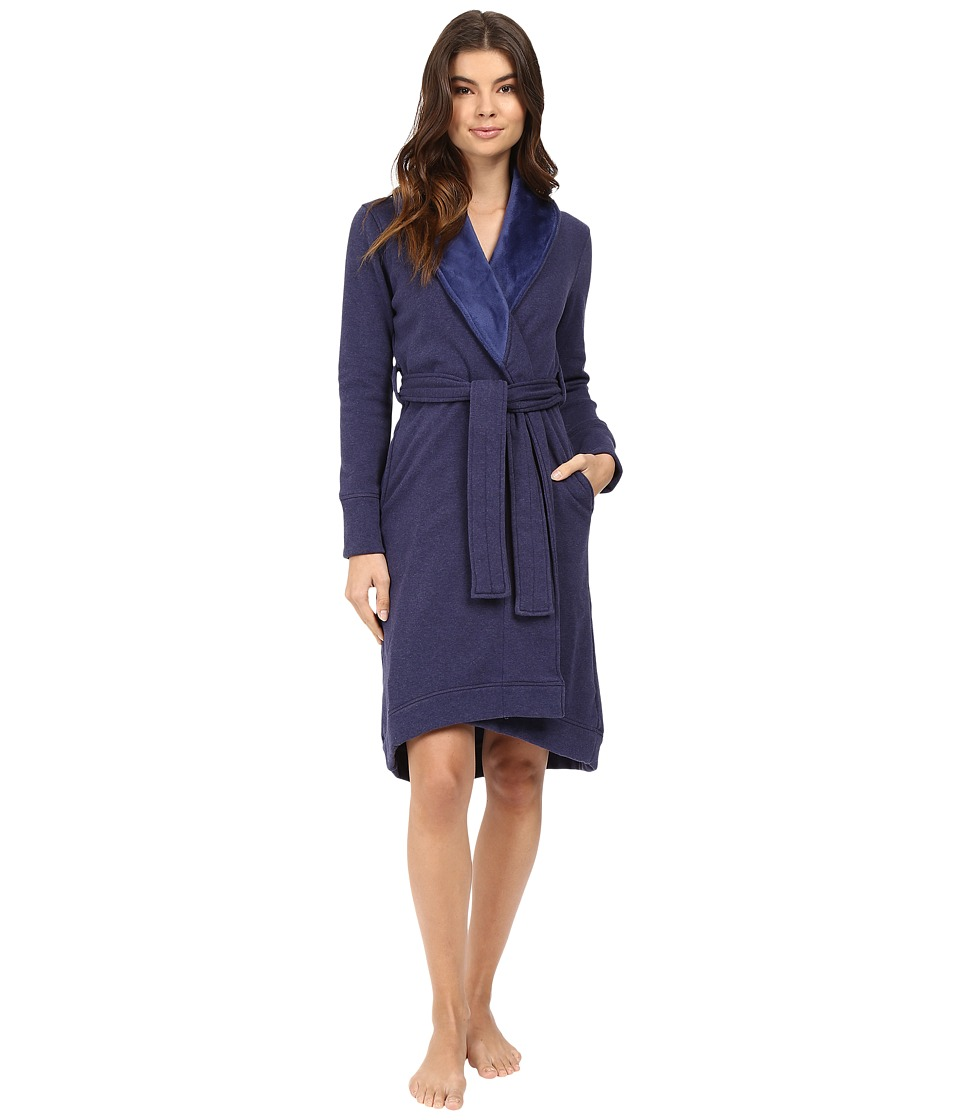 UGG - Duffield Robe (Dark Pajama Blue Heather) Women's Robe