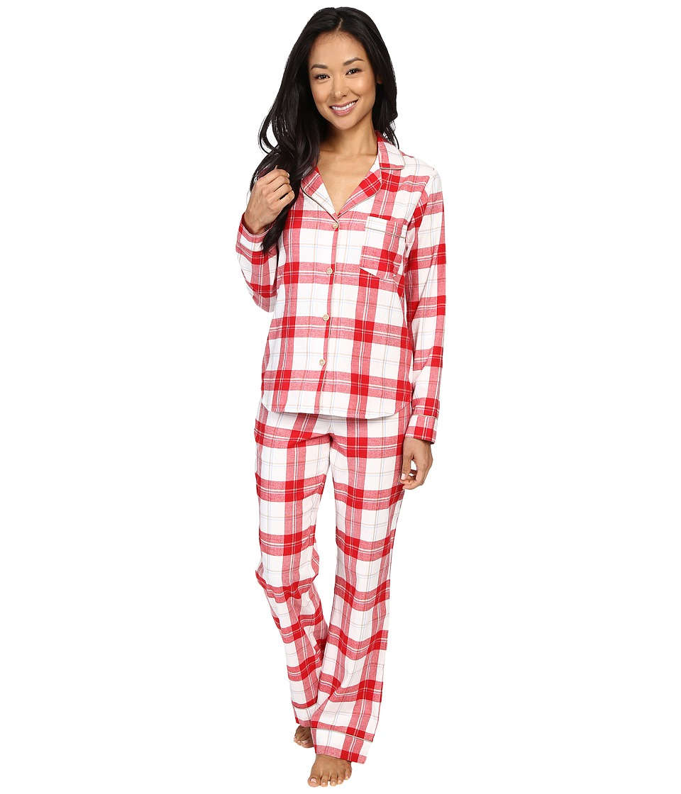 UGG - Raven PJ Set Plaid (Lipstick Red) Women's Pajama Sets