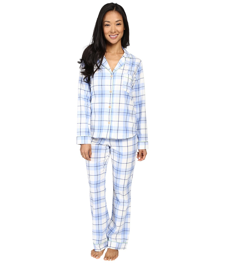 UGG - Raven PJ Set Plaid (Pajama Blue) Women's Pajama Sets