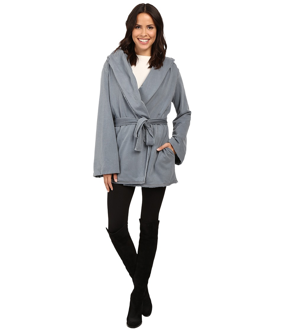 Young Fabulous & Broke - Blanket Coat (Slate Blue) Women's Coat