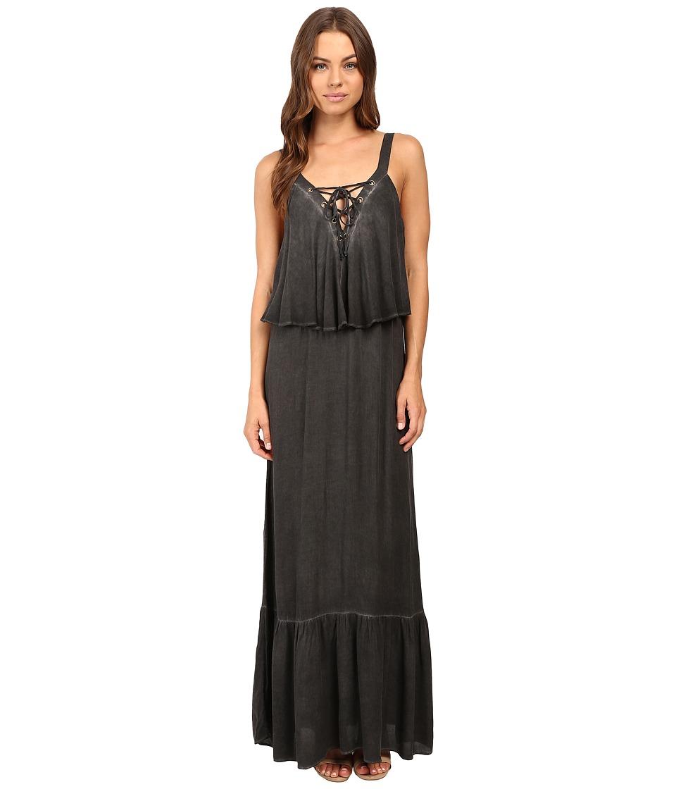 Young Fabulous & Broke Copal Maxi Charcoal Dress
