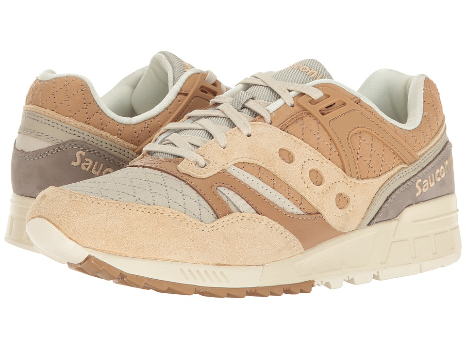 Saucony Originals - Grid SD Quilted (Tan/Grey) Men's Classic Shoes