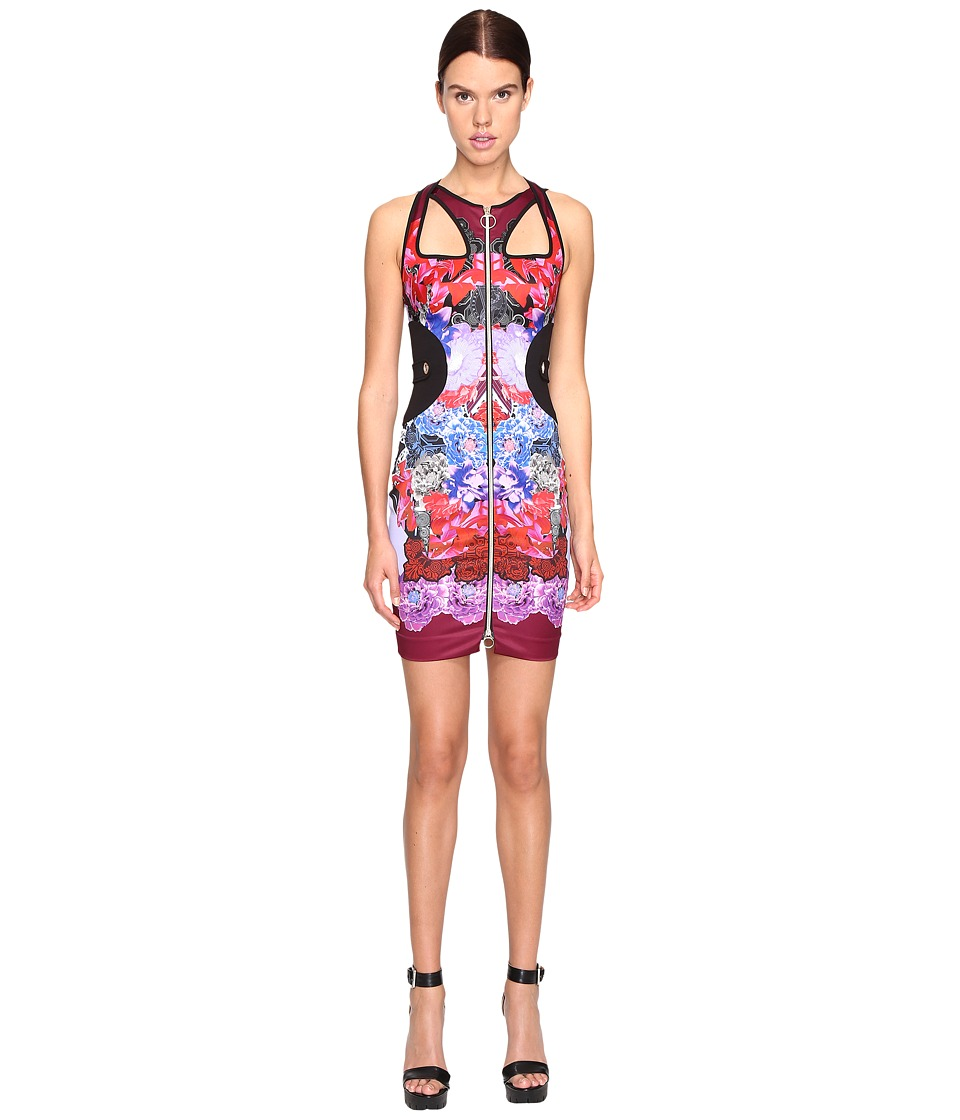 Versace Jeans Sleeveless Cut Out Printed Dress