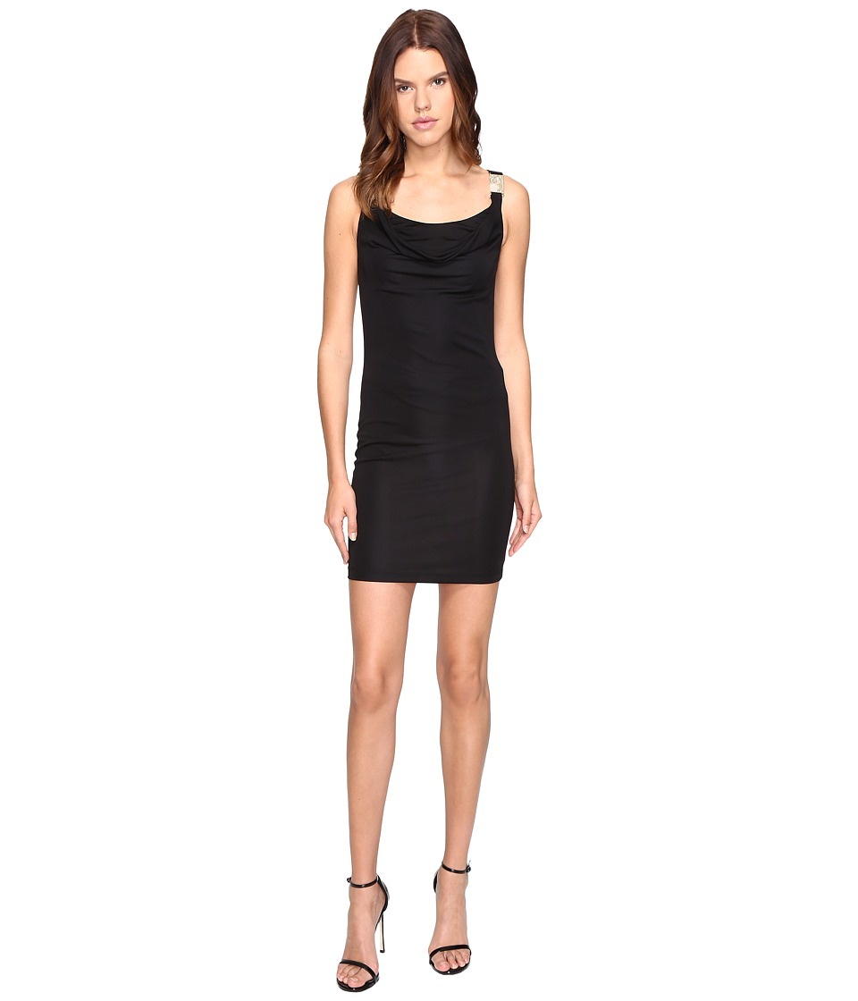 Versace Jeans Drape Neck Sleeveless Dress (Nero) Women