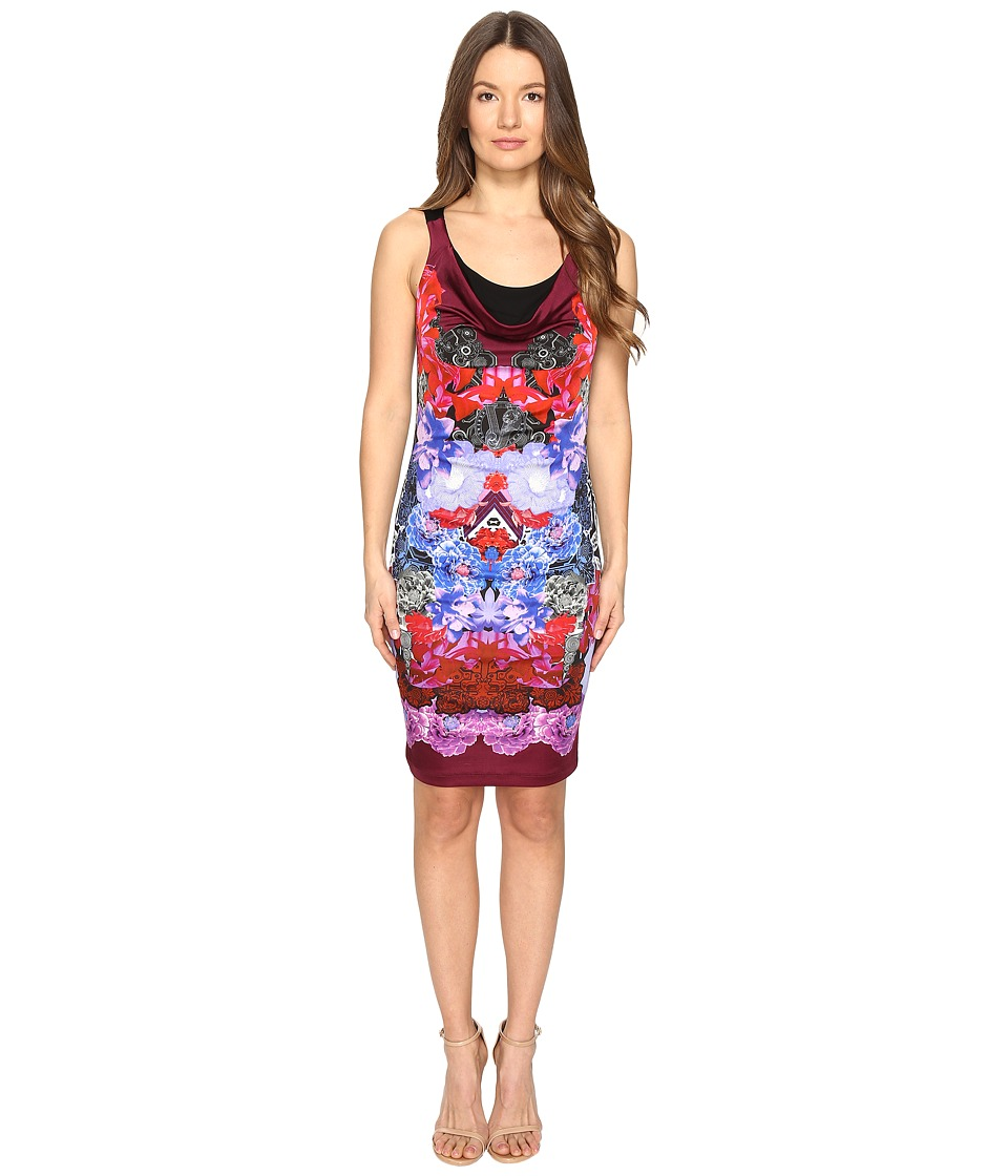 Versace Jeans - Sleeveless Printed Dress (Wisteria) Women's Dress