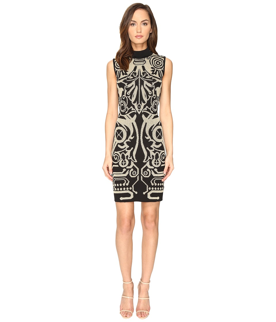 Versace Jeans Sleeveless Keyhole Dress (Nero) Women
