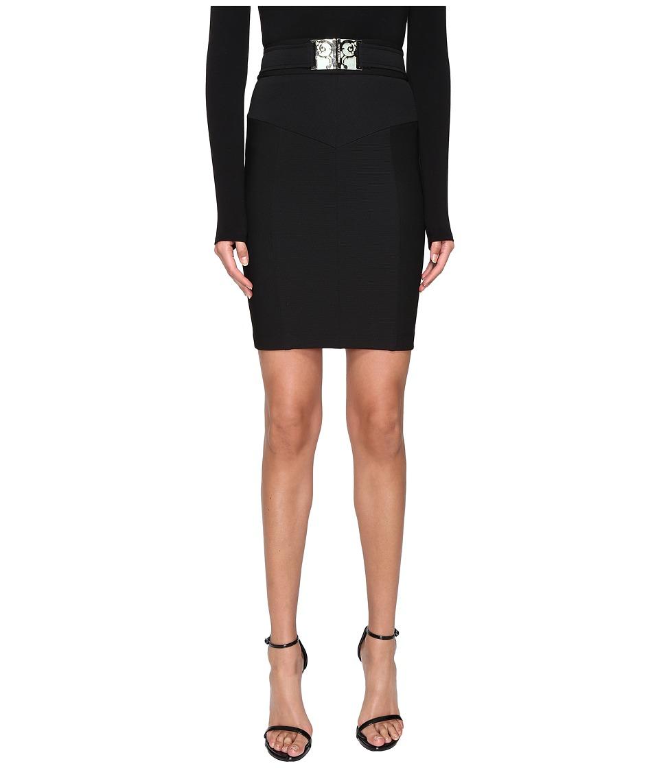 Versace Jeans - Logo Buckled Pencil Skirt (Nero) Women's Skirt