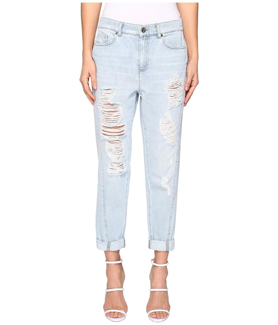 Versace Jeans - Distress Boyfriend Jeans (Indigo) Women's Jeans