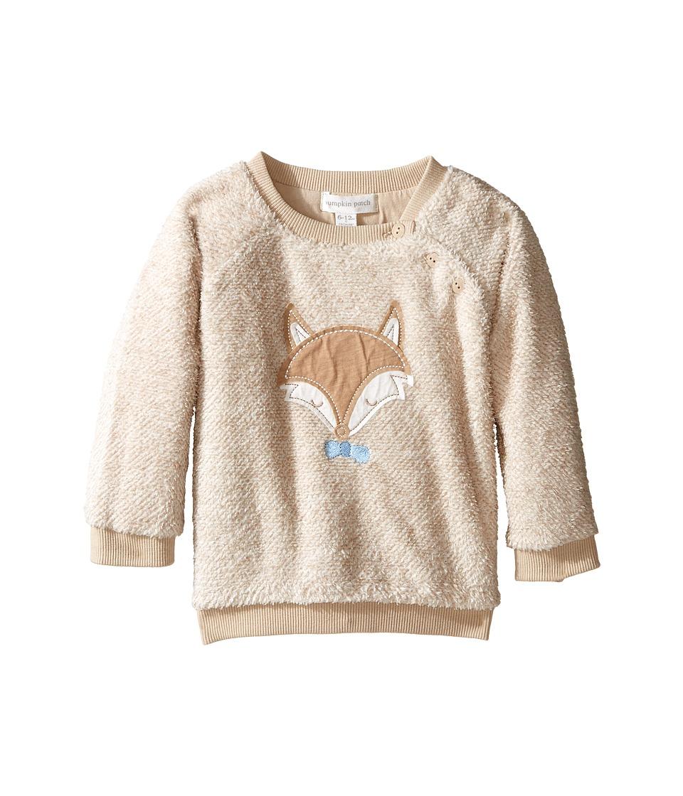 Pumpkin Patch Kids - Fox Fleece Sweater (Infant) (Taupe Marle) Kid's Sweater