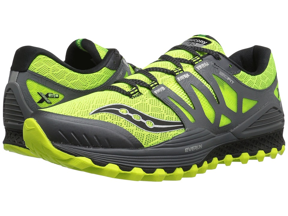 Saucony - Xodus ISO (Citron/Grey) Men's Running Shoes
