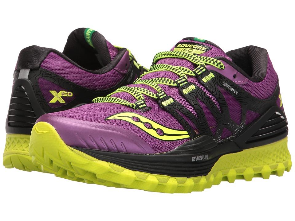Saucony - Xodus ISO (Purple/Citron) Women's Running Shoes