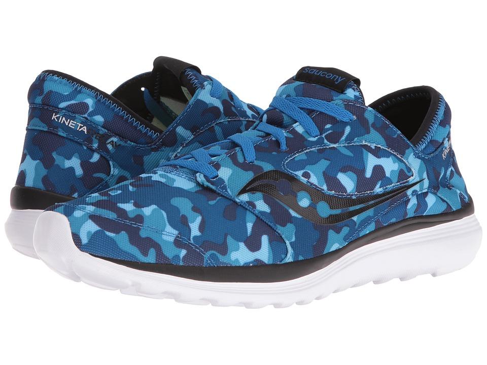 Saucony - Kineta Relay (Blue/Camo) Men's Running Shoes