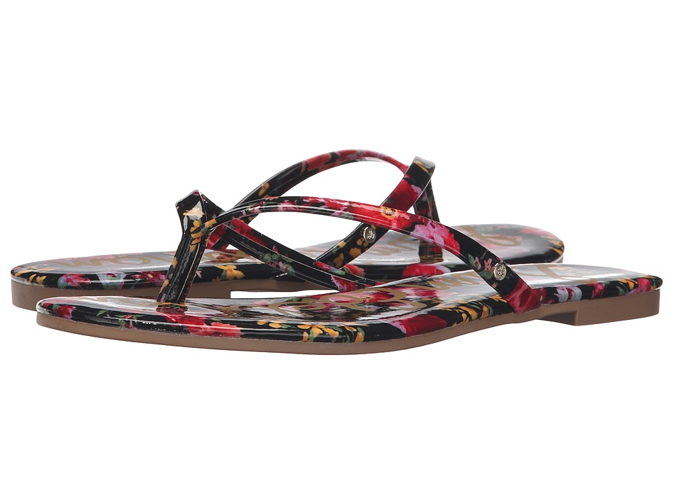 Sam Edelman - Oliver (Black Multi Garden of Poppy) Women's Sandals