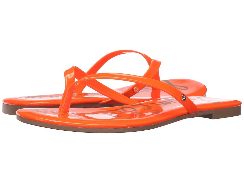 Sam Edelman - Oliver (Neon Orange Patent) Women's Sandals