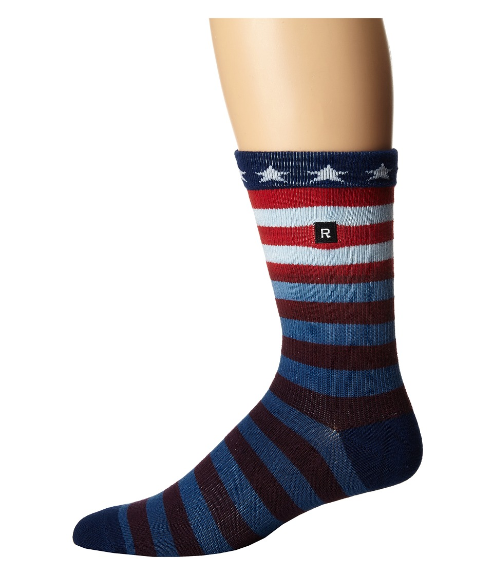 Richer Poorer - Patriot Athletic (Navy) Men's Crew Cut Socks Shoes