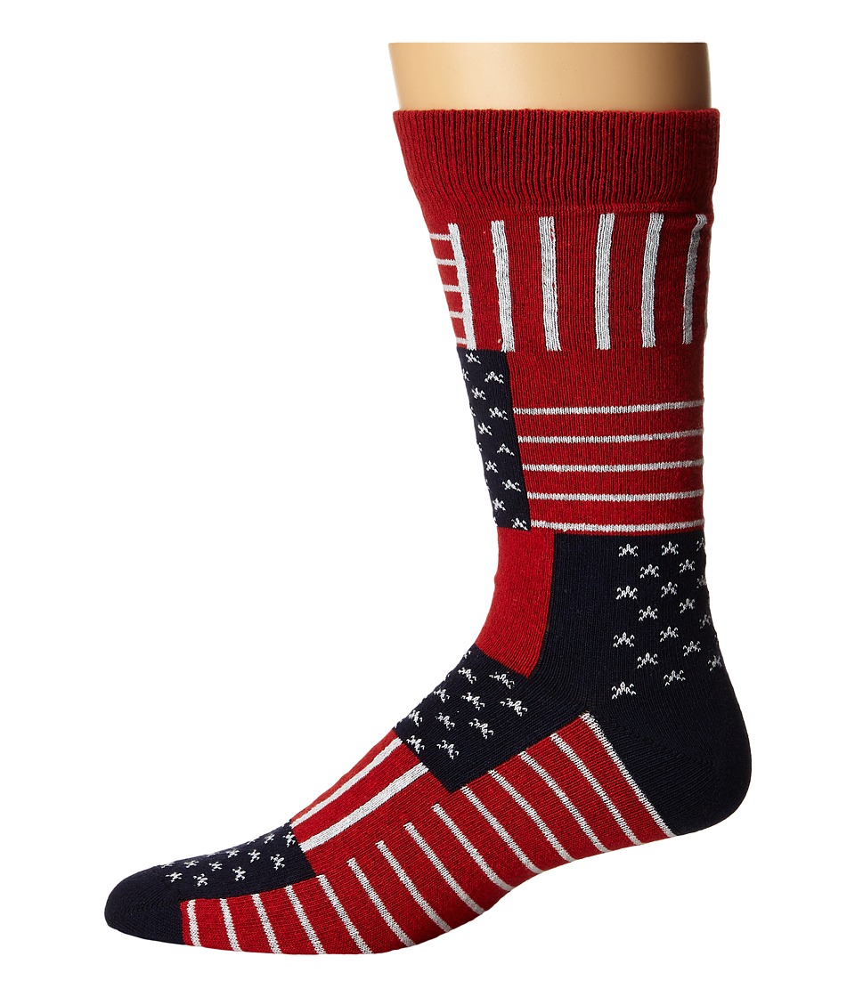 Richer Poorer - US Anthem (Navy) Men's Crew Cut Socks Shoes