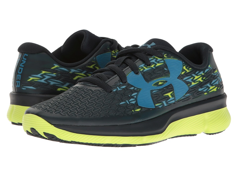 Under Armour Kids - UA CF Rebelspeed GR (Big Kid) (Blue Drift /Hi-Vis Yellow/Chicago Blue) Boys Shoes