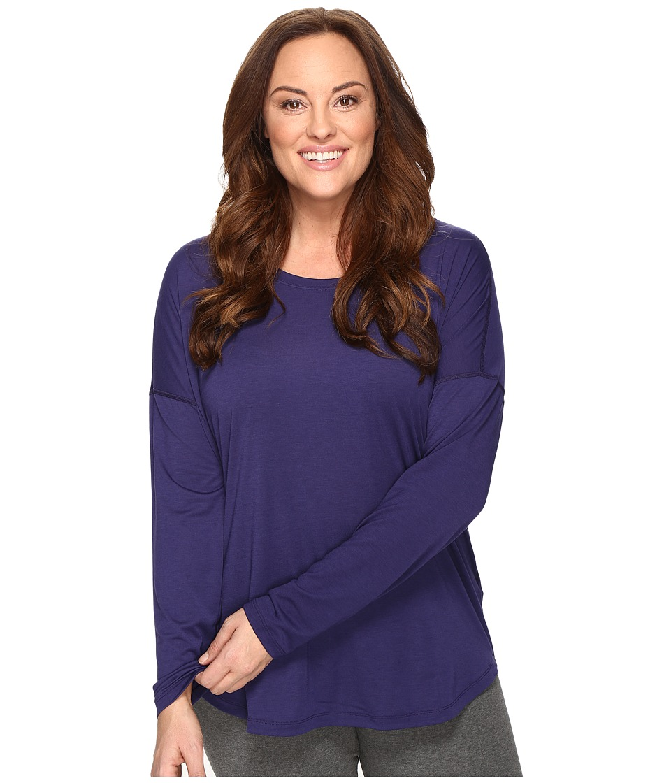Lucy - Extended Final Rep Long Sleeve Top (Pure Indigo) Women's Long Sleeve Pullover