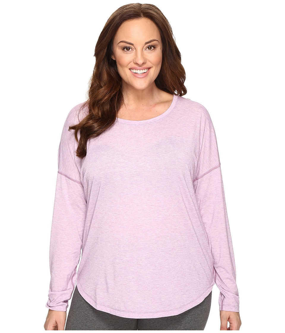 Lucy - Extended Final Rep Long Sleeve Top (Fresh Lavender Heather) Women's Long Sleeve Pullover