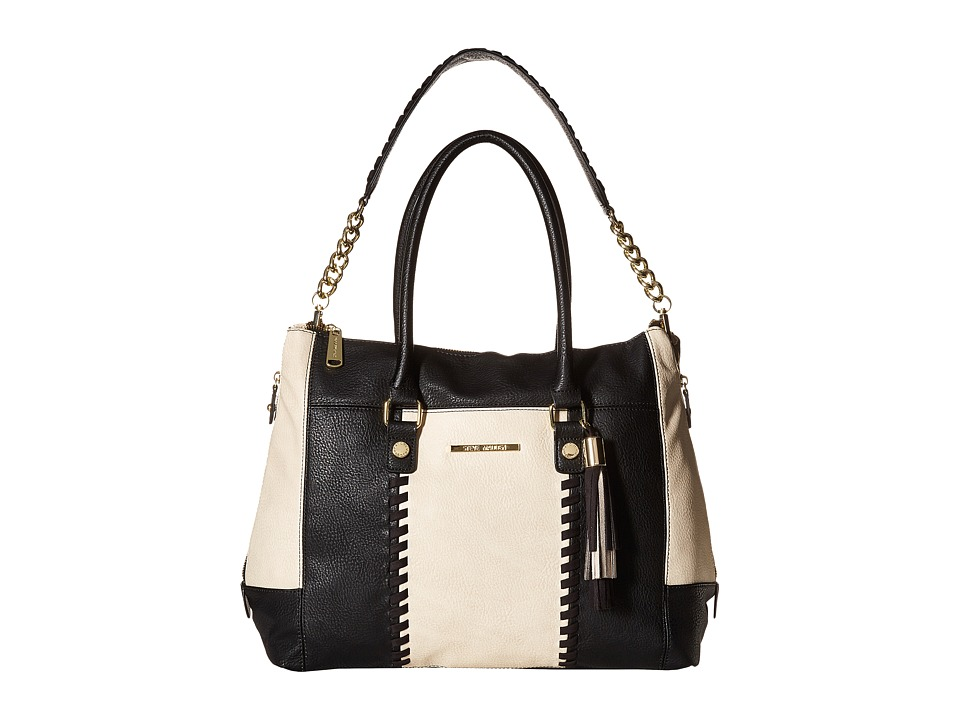 Steve Madden - BSocial Shopper (Bone/Black) Handbags