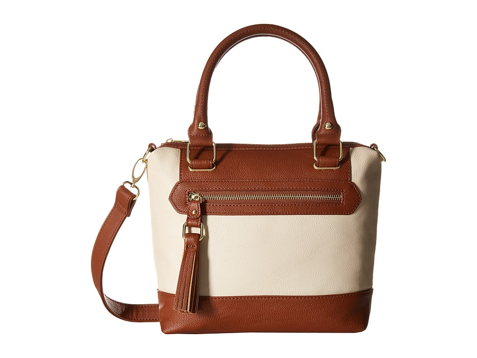 Steve Madden - Bbenz Mini Crossbody (Cream/Cognac) Cross Body Handbags