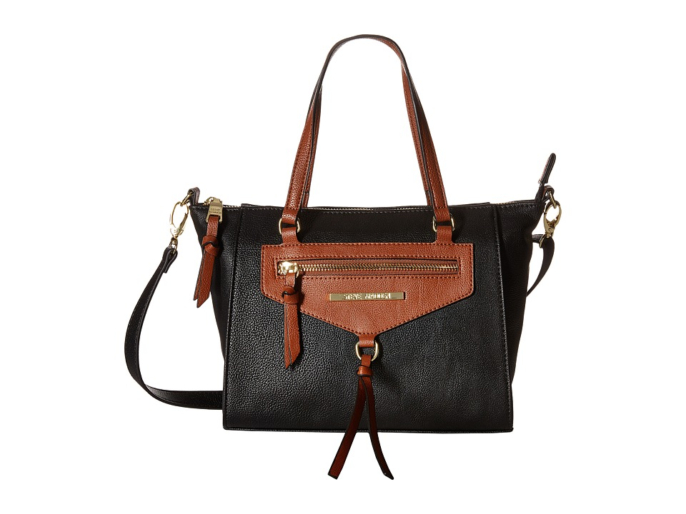 Steve Madden - BBanks Crossbody (Black/Cognac) Cross Body Handbags