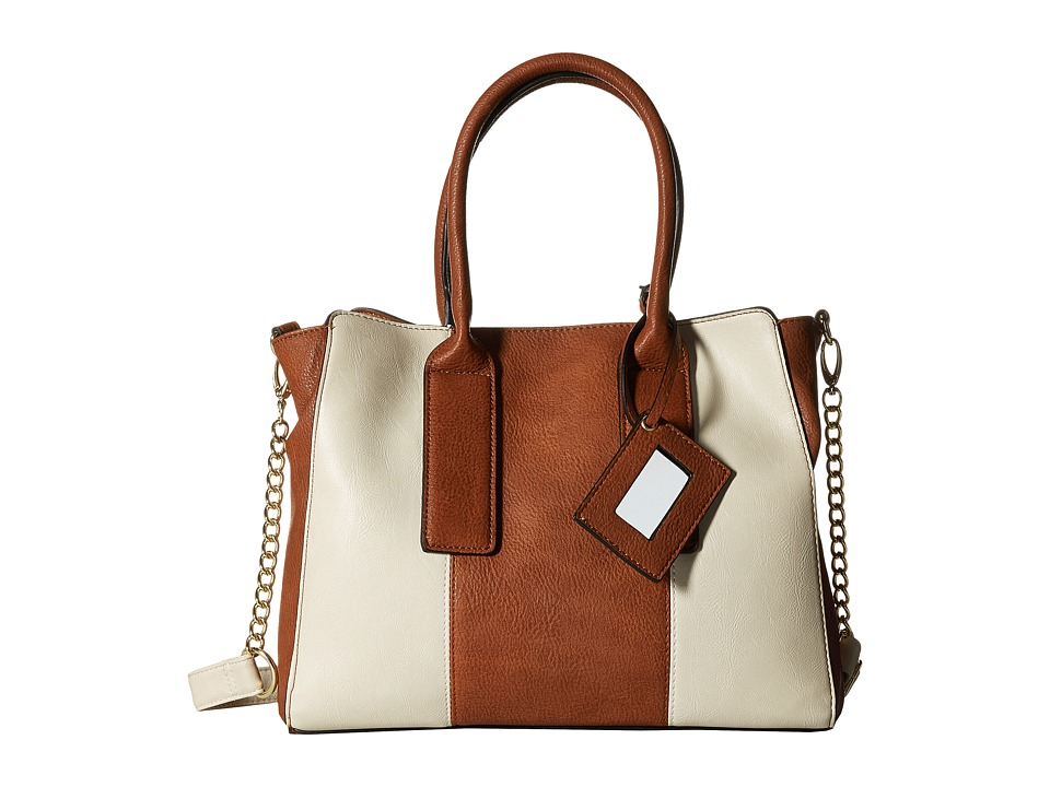 Steve Madden - BPepper 3 Satchel (Cognac/Cream) Satchel Handbags