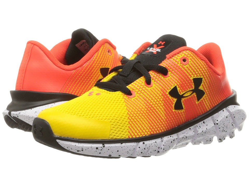 Under Armour Kids - UA X Level Scramjet (Little Kid) (Taxi/Phoenix Fire/Black) Boys Shoes