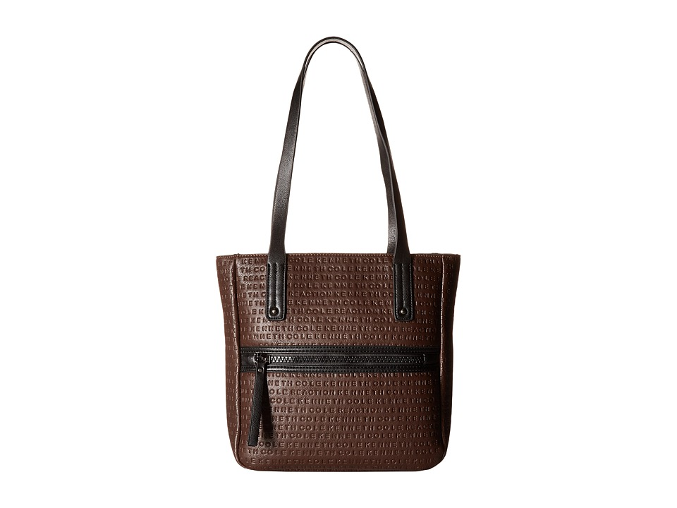 Kenneth Cole Reaction - Mars Mono Small Tote (Chocolate) Tote Handbags