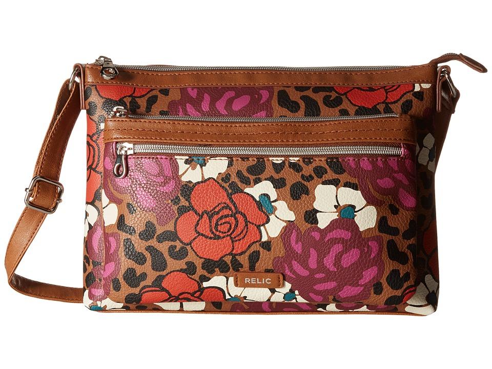 Relic - Evie East West Crossbody (Leopard) Cross Body Handbags